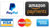 Payments accepted: amazon paypal visa mastercard discover