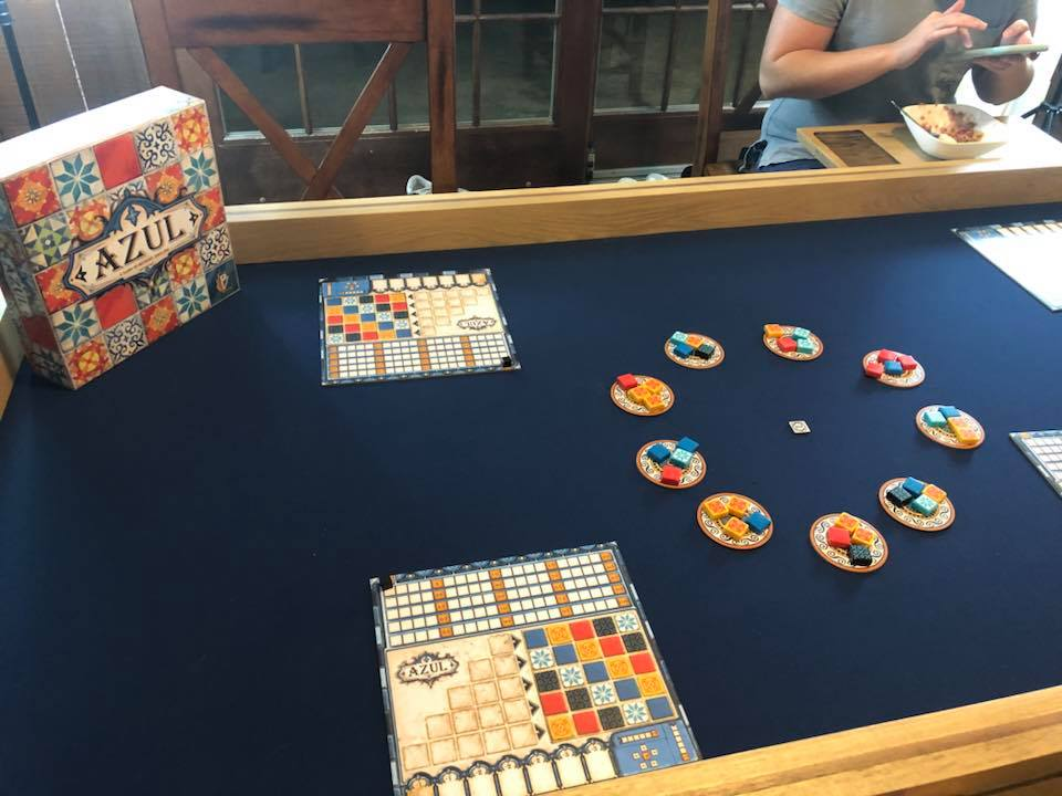 board game on custom gaming table mat