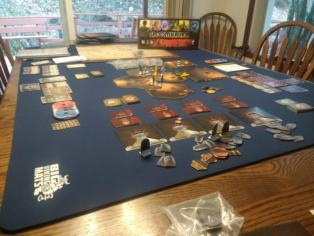 gloomhaven on neoprene mat