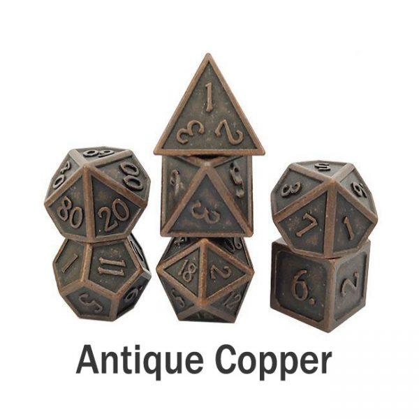 metal gaming dice antique copper