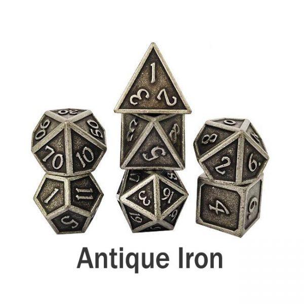 metal gaming dice antique iron