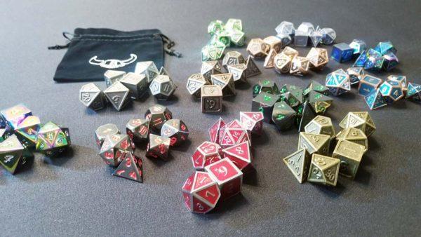 metal polyhedral gaming dice