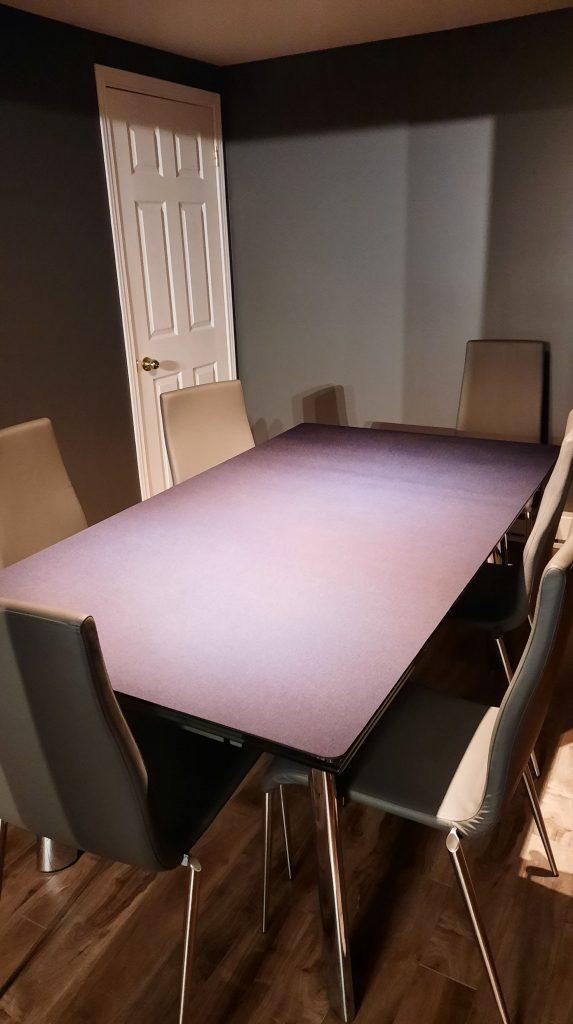 custom cut burgundy gaming mat