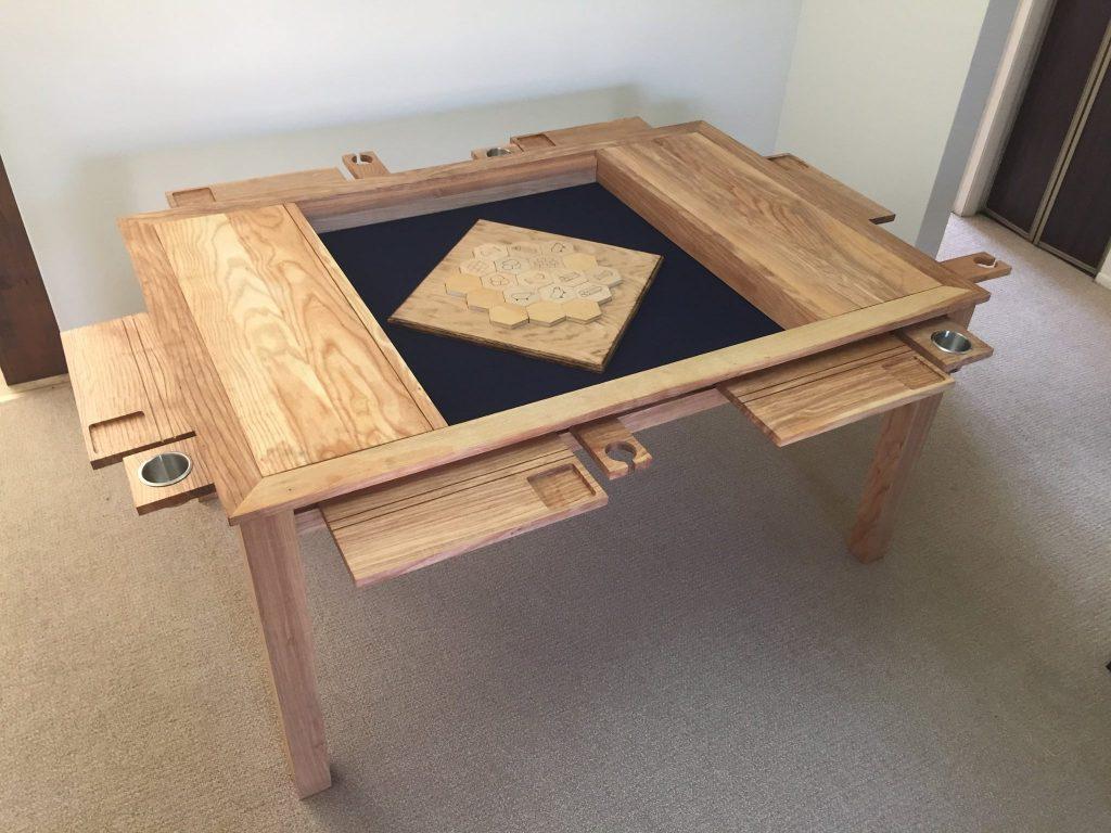 inlaid recessed gaming table mat