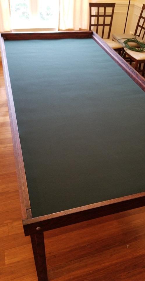 long black custom gaming mat