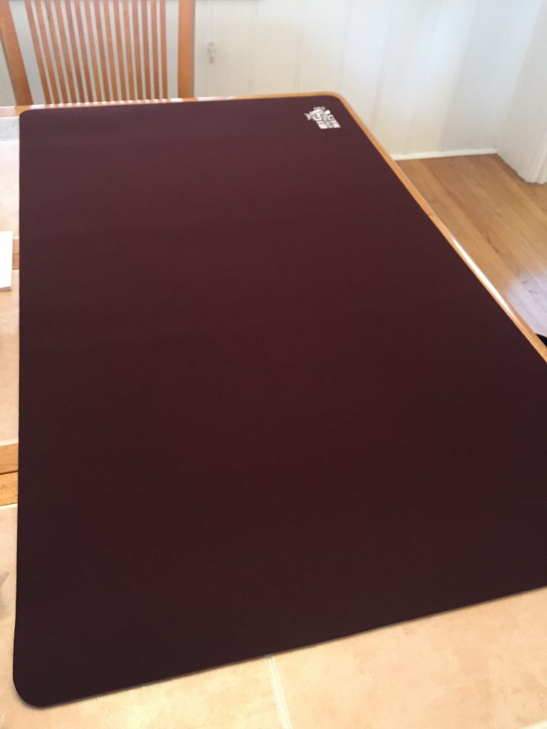 red large dining table mat