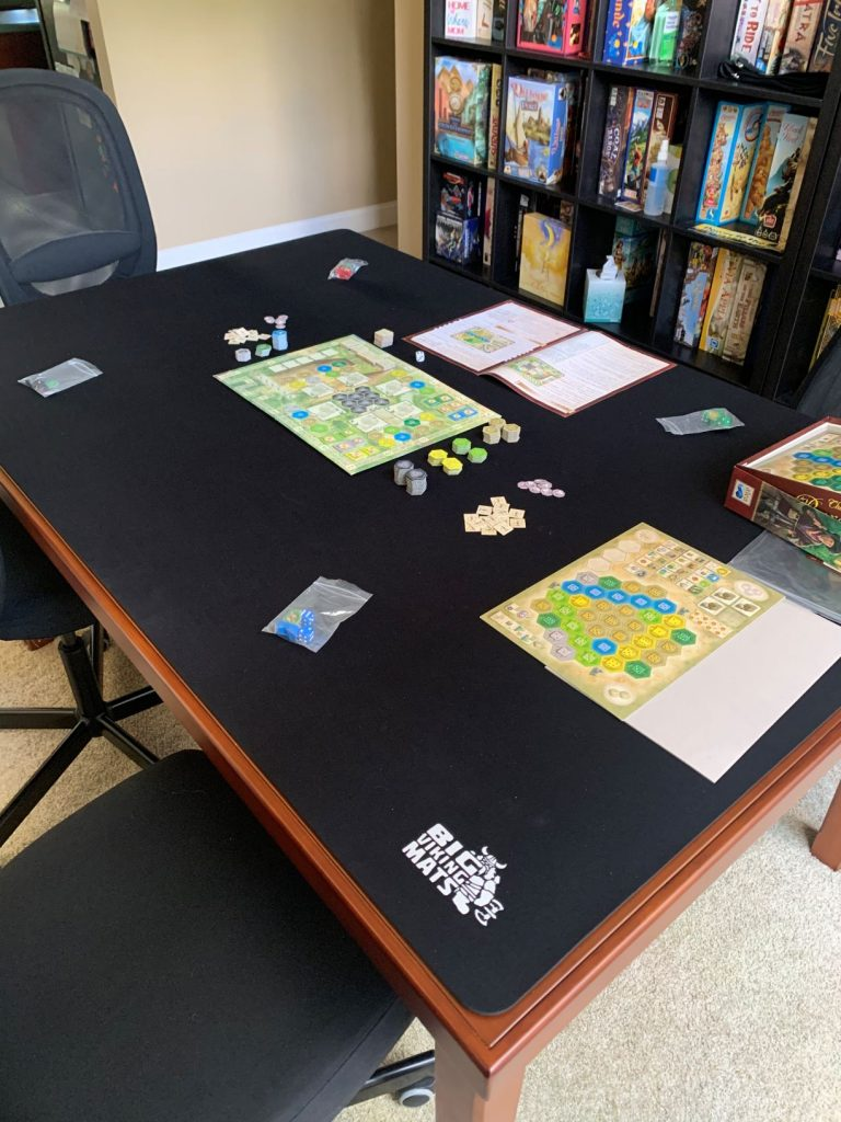 custom cut neoprene gaming mat